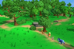 Winnie, the pooh 3d game